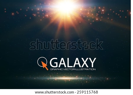 abstract shining galaxy
