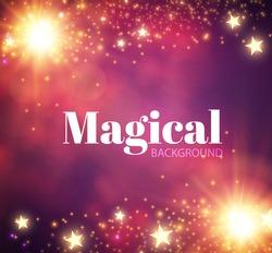 Abstract shining magic background. Vector illustration