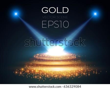 abstract shining spotlight