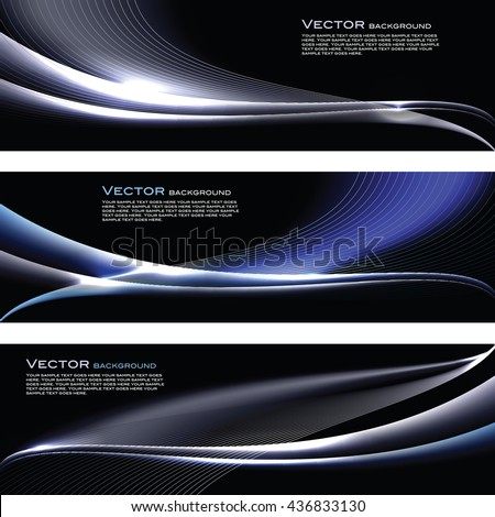 abstract shiny banners silver