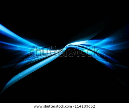 abstract shiny black blue colorful stylish wave vector - stock vector