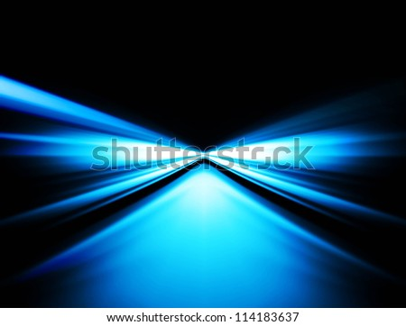 abstract shiny blue speed wave vector design