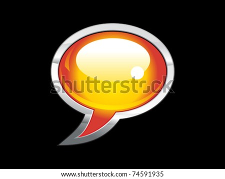 abstract shiny chat icon  vector illustration