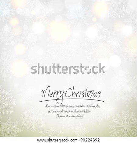 Abstract Shiny Christmas Background With Snowflakes