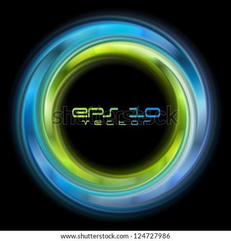 Abstract shiny circles background. Vector logo eps 10