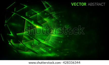 abstract shiny dark background