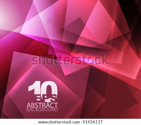 Abstract shiny geometric background in purple|red color