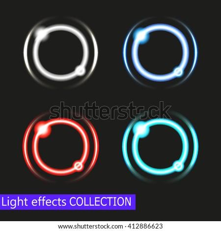 abstract shiny light circles