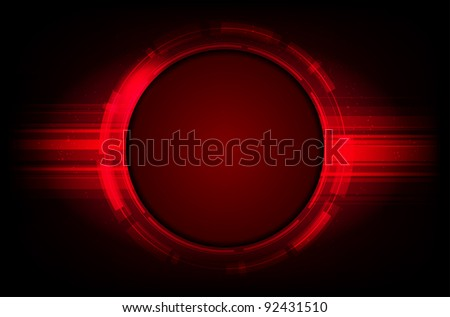 Abstract shiny red vector background with place for text