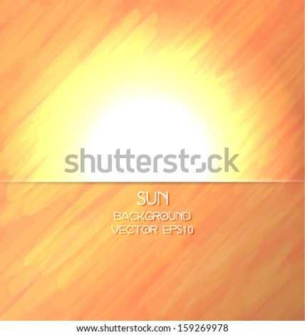 Abstract shiny sun background. Vector eps10.