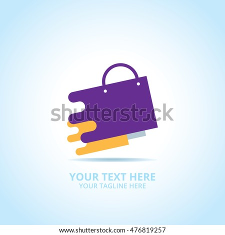 Abstract shop logo, design concept, emblem, icon, flat logotype element for template.