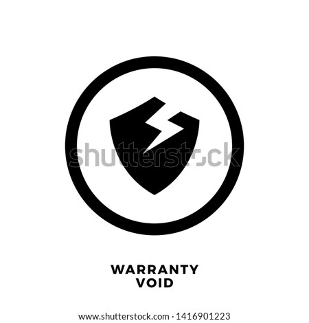 abstract sign of warranty void