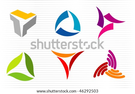 abstract signs vector icons