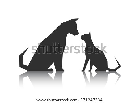 abstract silhouette pets from