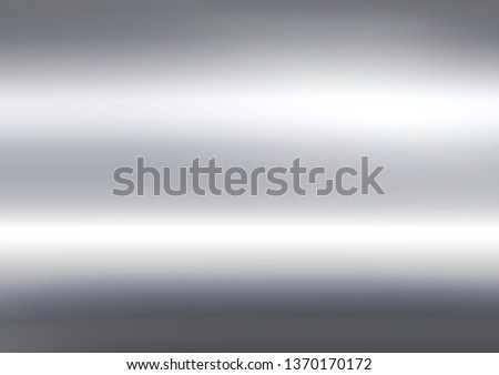 Abstract silver background and foil texture, shiny and metal steel gradient template, vector illustration Foto d'archivio ©