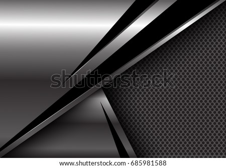 abstract silver black triangle