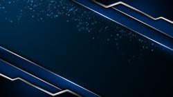 abstract silver blue metallic frame design background sports tech concept eps 10 vector