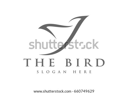 abstract simple bird with