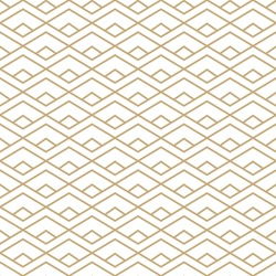 Abstract simple pattern with golden lines. Gold and white geometric background. Vector seamless texture in minimal style.