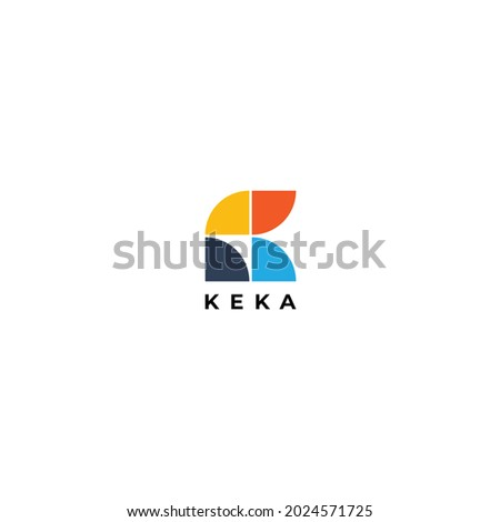 Abstract Simple Tiles Letter K Logo Shape Design Stock fotó ©