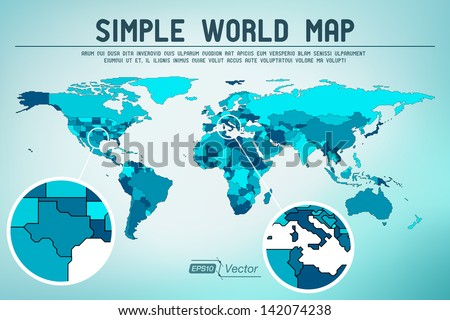 Textured world maps download free vector art stock graphics images abstract simple world map eps10 vector design gumiabroncs Image collections