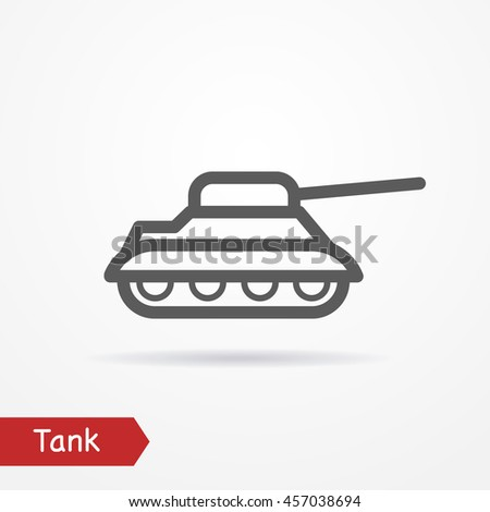 abstract simplistic tank icon