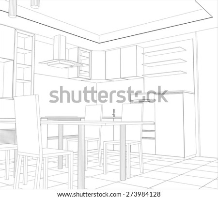 abstract sketch design interior