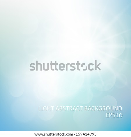 Abstract sky background with summer sun burst. Vector illustration