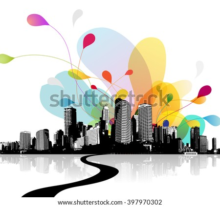 abstract sky illustration with