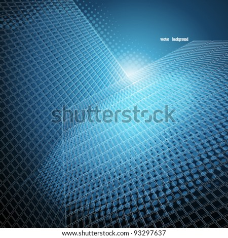 Abstract skyscrapers background. Vector illustration.