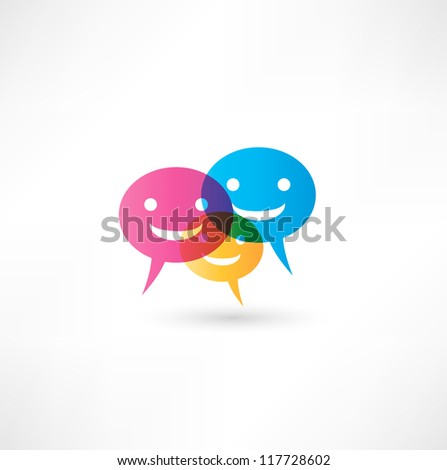 abstract smile talking bubble