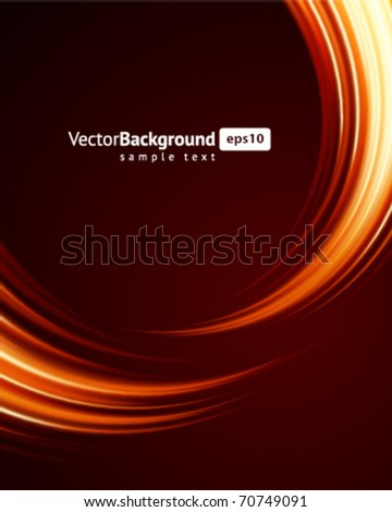 Abstract smooth burn flame fire vector background