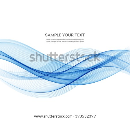 abstract smooth color wave