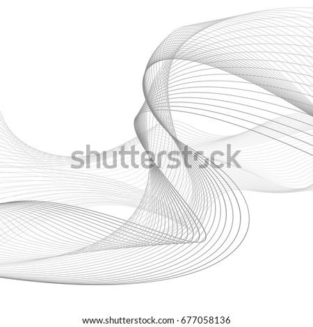 abstract smooth gray wave curve