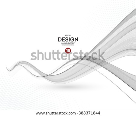 abstract smooth gray wave