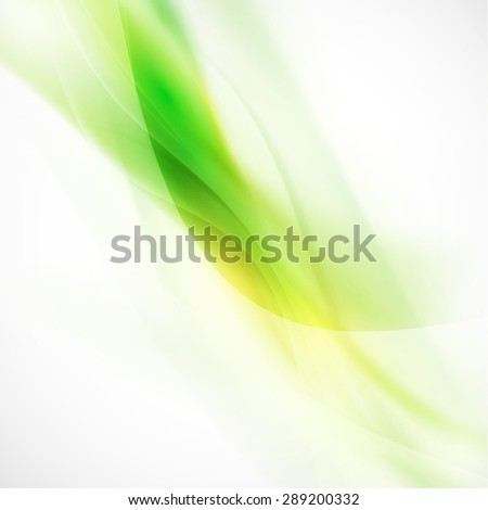abstract smooth green flow