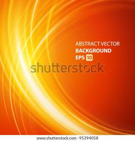 Abstract smooth light lines vector background. Eps 10.