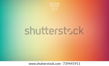 Abstract smooth rainbow background, colorful blurred design, vector illustration