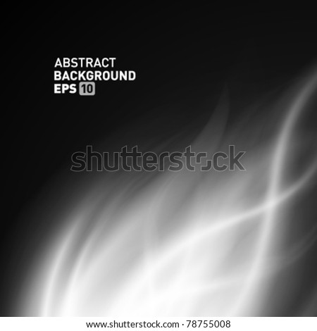 Abstract smooth smoke fire vector background. Eps 10.