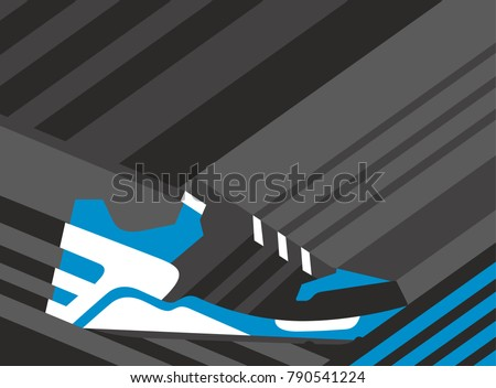 abstract sneaker shoe on