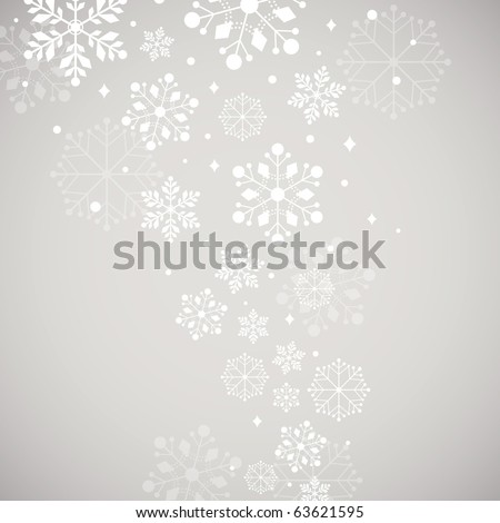 Abstract snow background vector