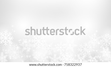 abstract snow flake white and