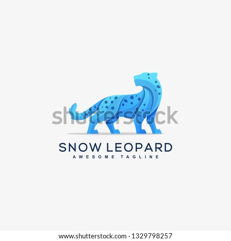 abstract snow leopard concept