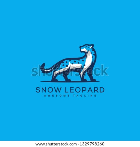 abstract snow leopard design