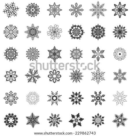 abstract snowflake shapes