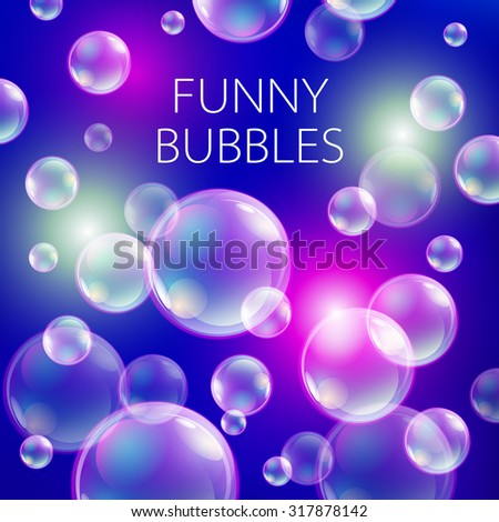 abstract soap bubbles vector