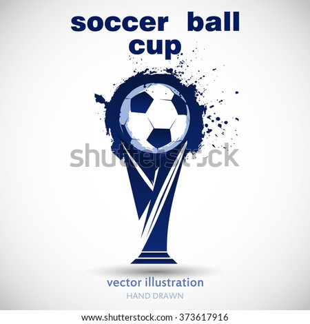abstract soccer ball grunge and