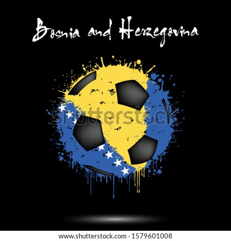 abstract soccer ball painted in