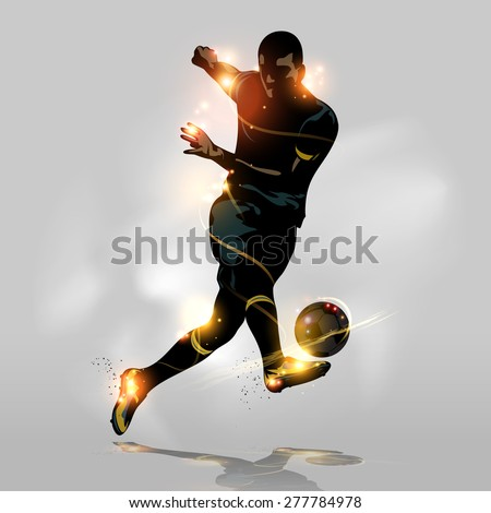 abstract soccer player quick