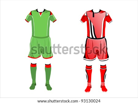 Abstract Soccer uniforms